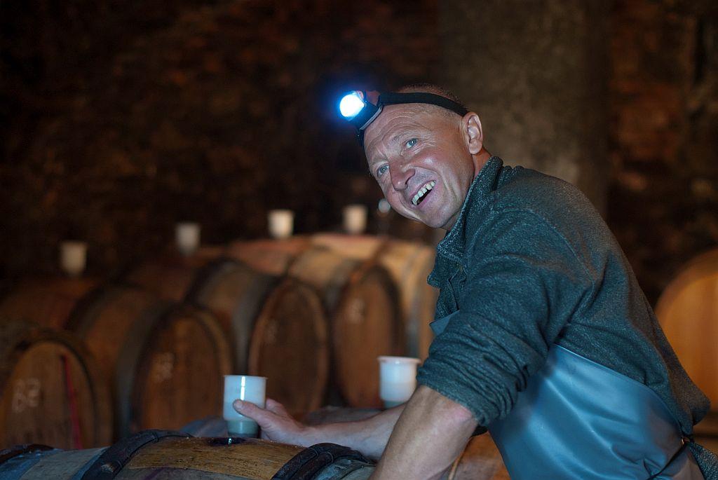 Karl Schnabel im Weinkeller