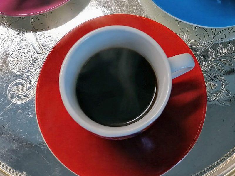 Dampfender Kaffee